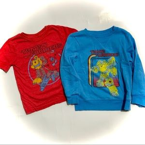Lot bundle 2 Transformers shirts
